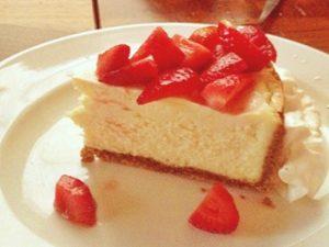 receta de pay de queso con fresas